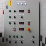 Central control panel of brewhouse