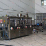 Automatic bottling line for beer