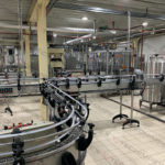 Automatic beer bottling line